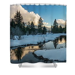 Resting Creek Shower Curtain