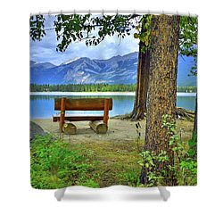 Shower Curtain featuring the photograph Resting Place At Lake Annette by Tara Turner