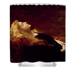 Resting Shower Curtain by Victor Gabriel Gilbert