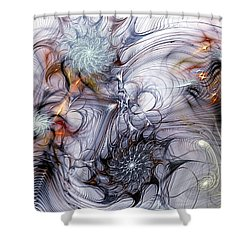 Restive Shower Curtain by Casey Kotas
