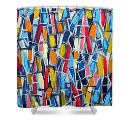 Restless Aura Shower Curtain