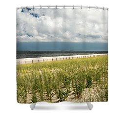 Shower Curtain featuring the photograph Restoring The Sand Dunes by Gary Slawsky