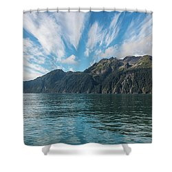 Shower Curtain featuring the photograph Resurrection Bay, Kenai Fjords National Park In Alaska by Brenda Jacobs