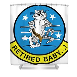 Retired Baby - Tomcat Shower Curtain