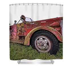 Retired Hero Shower Curtain