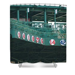 Retired Numbers Shower Curtain