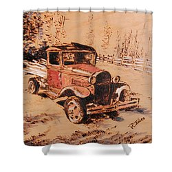 Retired Shower Curtain