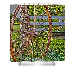 Retired Shower Curtain by William Norton