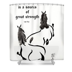 Retired With Lao Tzu Quote IIi Shower Curtain by Bill Searle