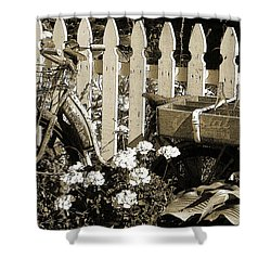 Shower Curtain featuring the photograph Retirement by Betsy Zimmerli