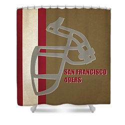 Retro 49ers Art Shower Curtain
