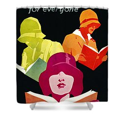 Shower Curtain featuring the photograph Retro Books Poster 1929 by Padre Art