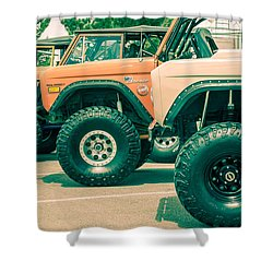Retro Bronco Heaven Shower Curtain