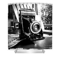 Shower Curtain featuring the photograph Retro Camera by Daniel Dempster