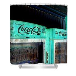Coke a cola shower curtains fine art america - Bathroom coca cola shower curtain ...