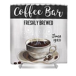 Shower Curtain featuring the painting Retro Coffee Shop 2 by Debbie DeWitt