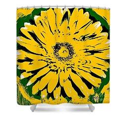 Retro Daisy Shower Curtain by Marsha Heiken