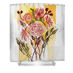 Retro Florals Shower Curtain by Carol Crisafi