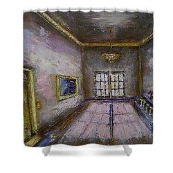 Retro Lobby Shower Curtain