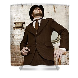 Shower Curtain featuring the photograph Retro Nobel Man by Jorgo Photography - Wall Art Gallery