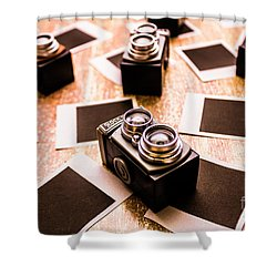 Retro Photographic Scene Shower Curtain