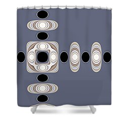 Shower Curtain featuring the digital art Retro Shapes 1 by Fran Riley
