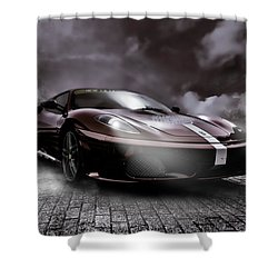 Retro Sports Car - Formule 1 Shower Curtain by Yvon van der Wijk