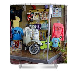 Retro Storefront Shower Curtain