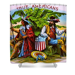 Shower Curtain featuring the photograph Retro Tobacco 1885 by Padre Art