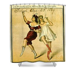 Shower Curtain featuring the photograph Retro Tobacco Label 1869 F by Padre Art