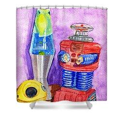 Retro Toys Shower Curtain