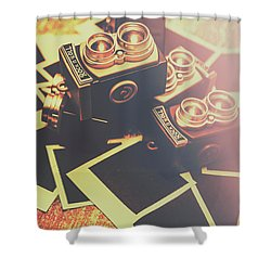 Retro Twin Lens Reflex Cameras Shower Curtain