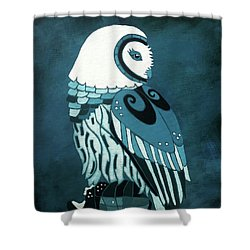 Retrospect In The Moonlight Owl Shower Curtain
