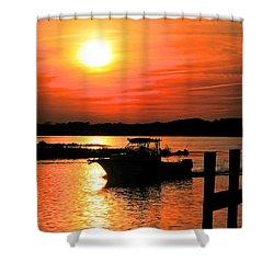 Return At Sunset Shower Curtain