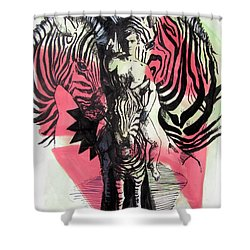 Return Of Zebra Boy Shower Curtain