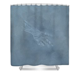 Shower Curtain featuring the painting Return To Dust by Judith Rhue