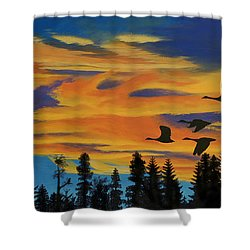 Return To The Estuary Shower Curtain
