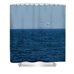 Shower Curtain featuring the digital art Return To The Isle Of Shoals by Barbara S Nickerson