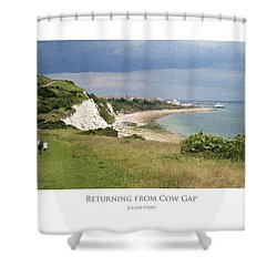 Shower Curtain featuring the digital art Returning From Cow Gap by Julian Perry