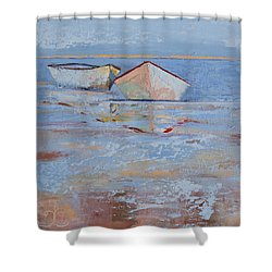 Returning Tides Shower Curtain by Trina Teele