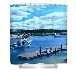 Returning To Sesuit Harbor Shower Curtain by Jack Skinner