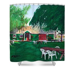 Retzlaff Winery Shower Curtain by Mike Robles