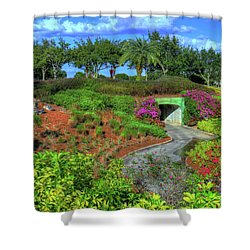 Shower Curtain featuring the photograph Reunion Resort  by Tom Prendergast