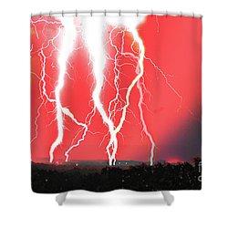 Lightning Apocalypse Shower Curtain