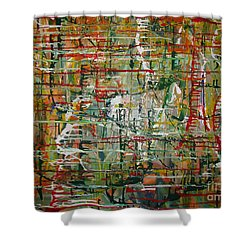 Shower Curtain featuring the painting Revelation by Jacqueline Athmann