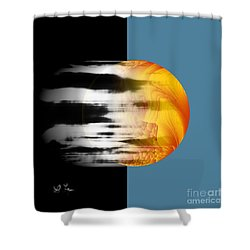 Shower Curtain featuring the digital art Revelation by Leo Symon