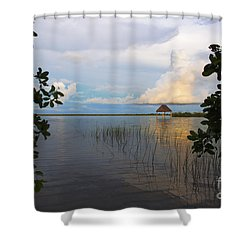 Shower Curtain featuring the photograph Revealing The Lagoon by Yuri Santin
