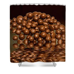 Shower Curtain featuring the photograph Revels Chocolate Sweets by David French