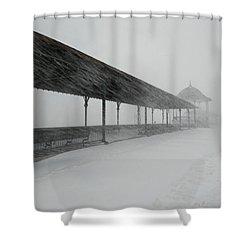 Revere Beach Nor'easter -jan 4,2018 Shower Curtain