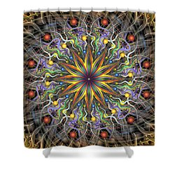 Reverse Cosmosis Shower Curtain